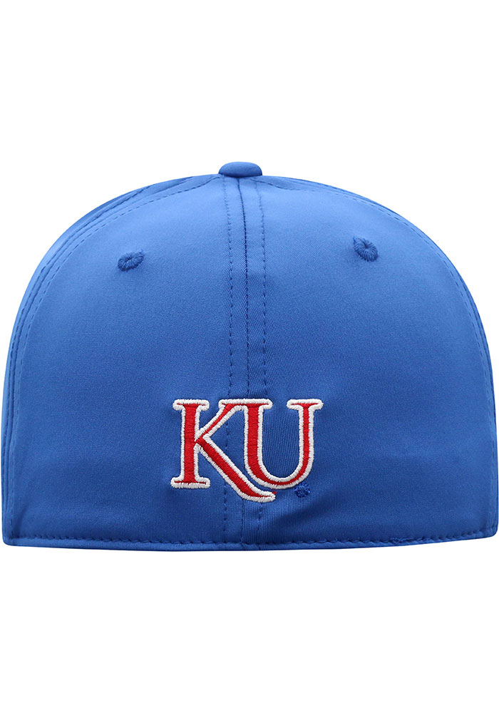 Top of the World Kansas Jayhawks Mens Blue Pepper Flex Hat - Image 4