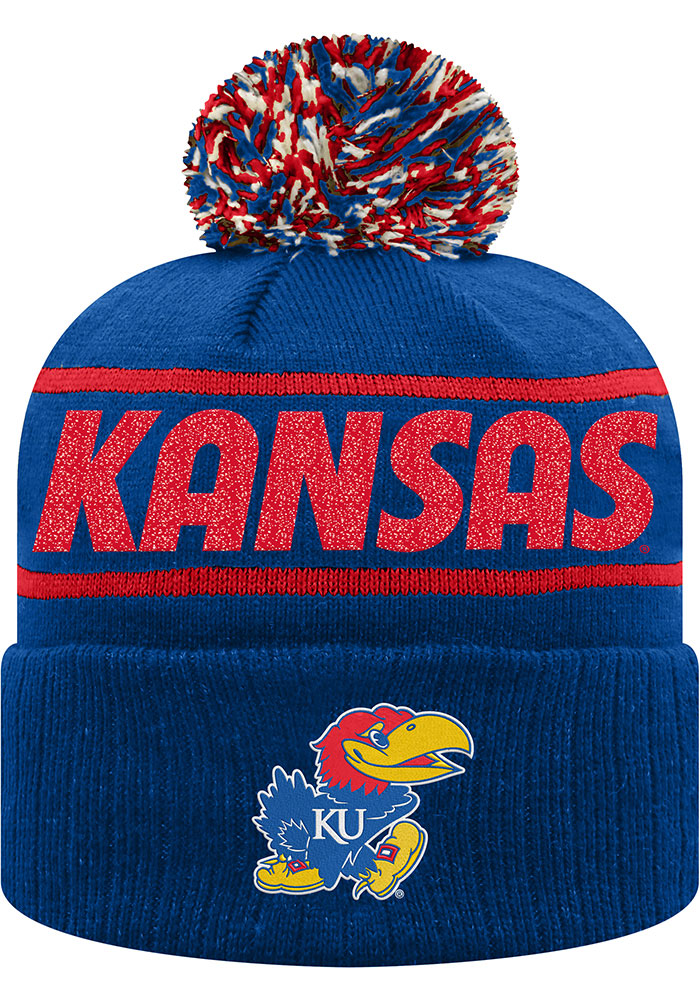 Top of the World Kansas Jayhawks Blue Ruth Cuff Womens Knit Hat - Image 1