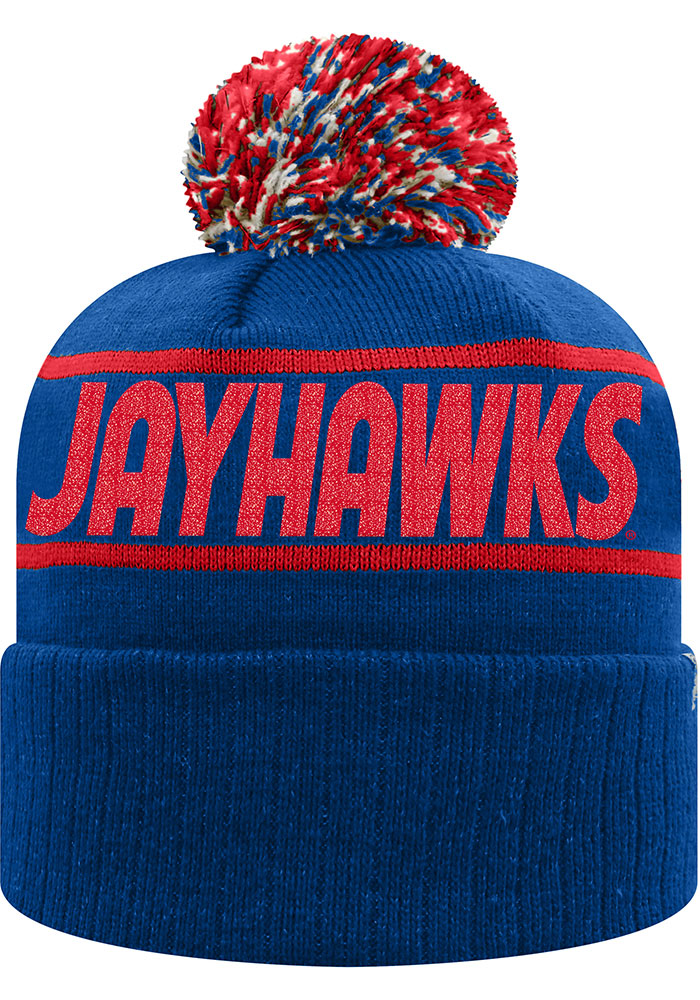 Top of the World Kansas Jayhawks Blue Ruth Cuff Womens Knit Hat - Image 2