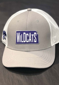 K-State Wildcats Top of the World Hi Rise Meshback Adjustable Hat - Grey