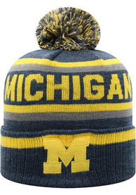 Michigan Wolverines Top of the World Buddy Cuff Knit - Navy Blue