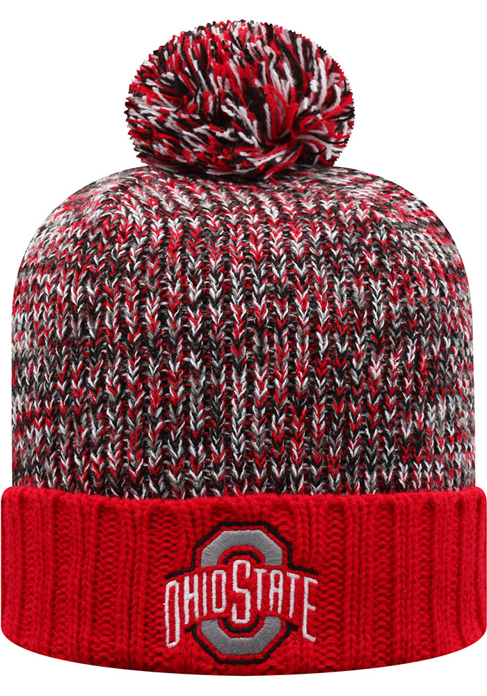 Top of the World Ohio State Buckeyes Red Soar Cuff Womens Knit Hat - Image 1