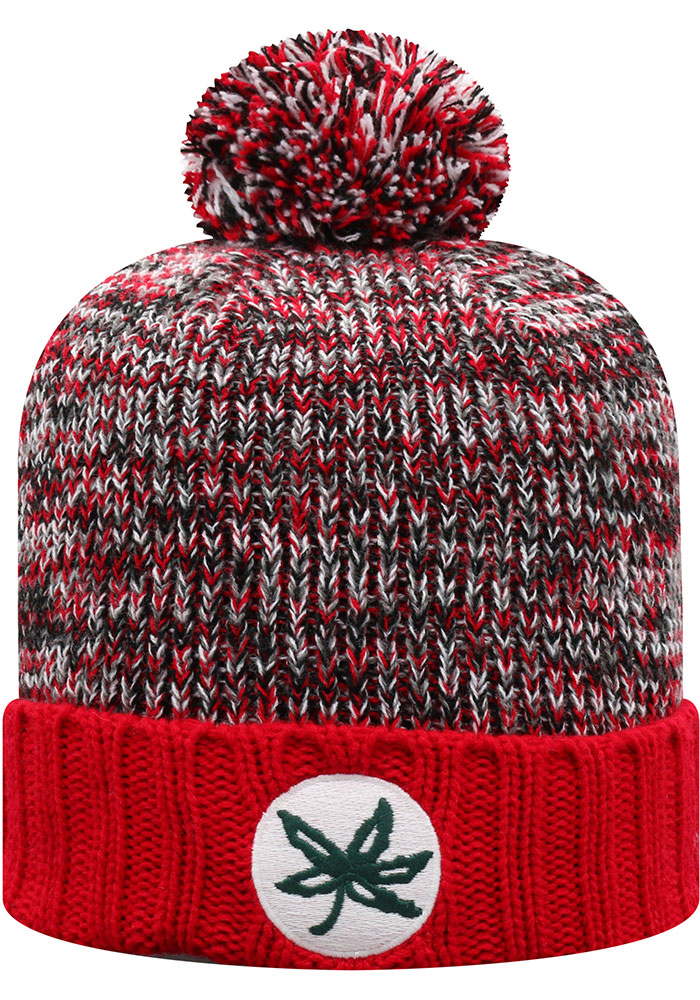 Top of the World Ohio State Buckeyes Red Soar Cuff Womens Knit Hat - Image 2