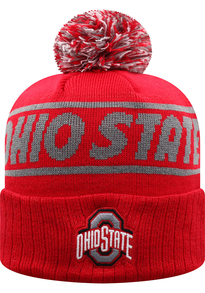 Top of the World Ohio State Buckeyes Red Ruth Cuff Womens Knit Hat - Image 1