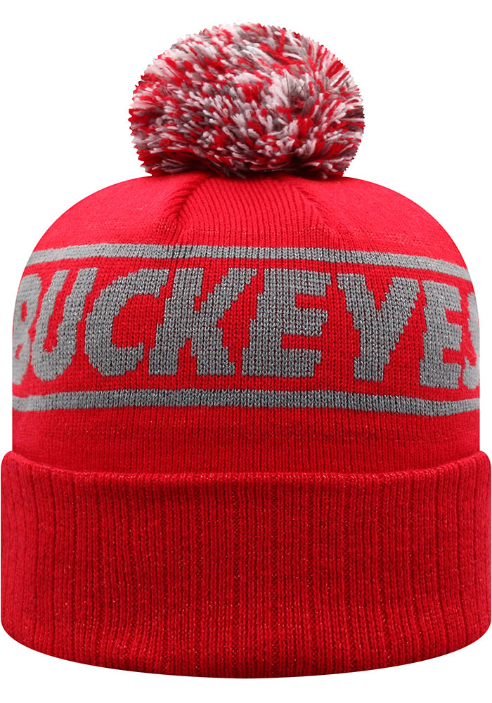 Top of the World Ohio State Buckeyes Red Ruth Cuff Womens Knit Hat - Image 2