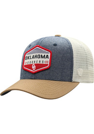 Oklahoma Sooners Top of the World Wild Meshback Adjustable Hat - Grey