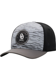 Oklahoma Sooners Top of the World Diffuse Flex Hat - Grey