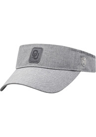 Oklahoma Sooners Top of the World Swing Adjustable Visor - Grey