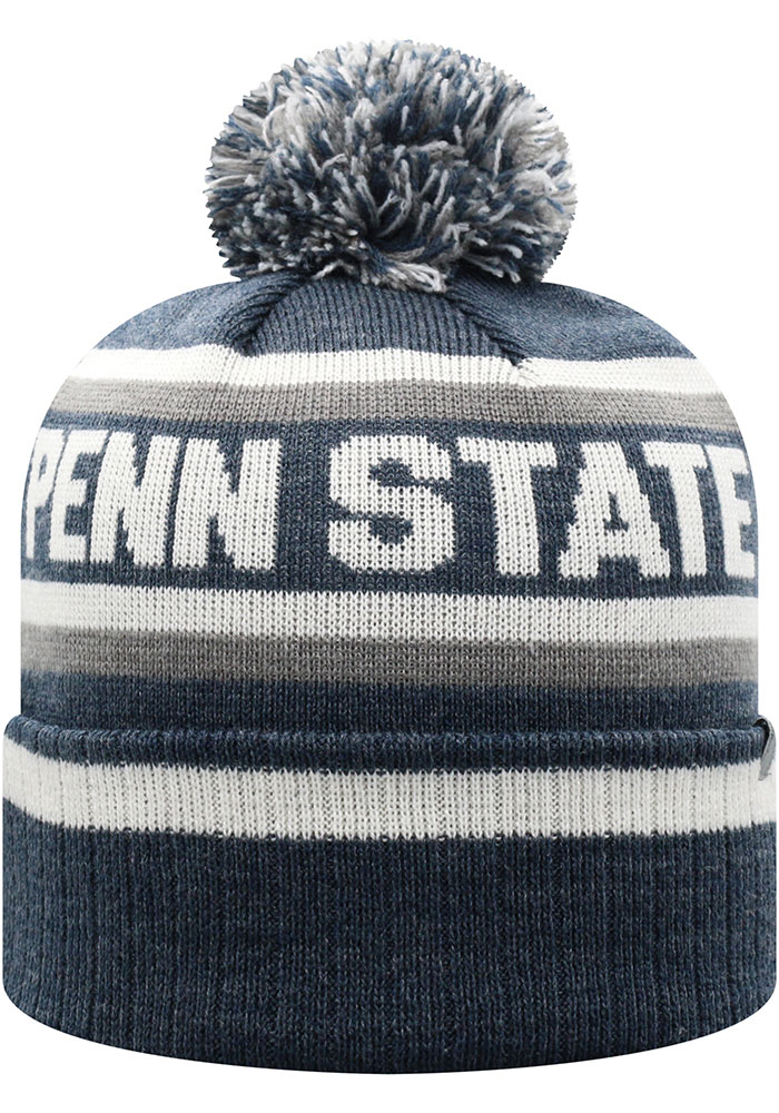 Top of the World Penn State Nittany Lions Navy Blue Buddy Cuff Mens Knit Hat - Image 2