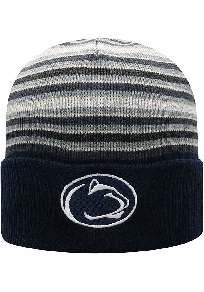 Top of the World Penn State Nittany Lions Navy Blue McGoat Cuff Mens Knit Hat - Image 1