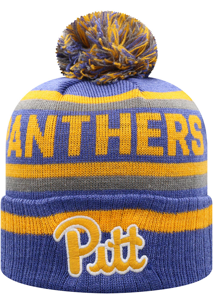 Top of the World Pitt Panthers Blue Buddy Cuff Mens Knit Hat - Image 1
