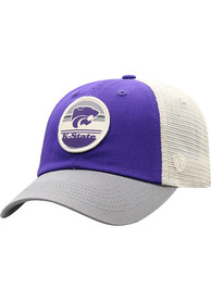 K-State Wildcats Top of the World Early Up Meshback Adjustable Hat - Purple
