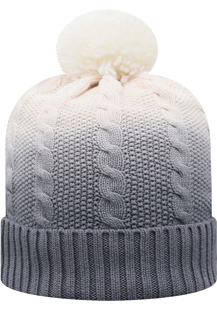 Top of the World Michigan State Spartans Grey Dissolve Fade Cuff Pom Mens Knit Hat - Image 2