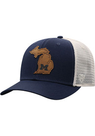 Michigan Wolverines Top of the World Precise Meshback Adjustable Hat - Navy Blue