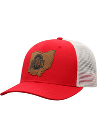 Ohio State Buckeyes Top of the World Precise Meshback Adjustable Hat - Red