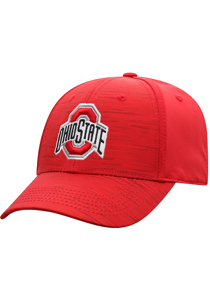 Top of the World Ohio State Buckeyes Mens Red Intrude 1Fit Flex Hat - Image 1