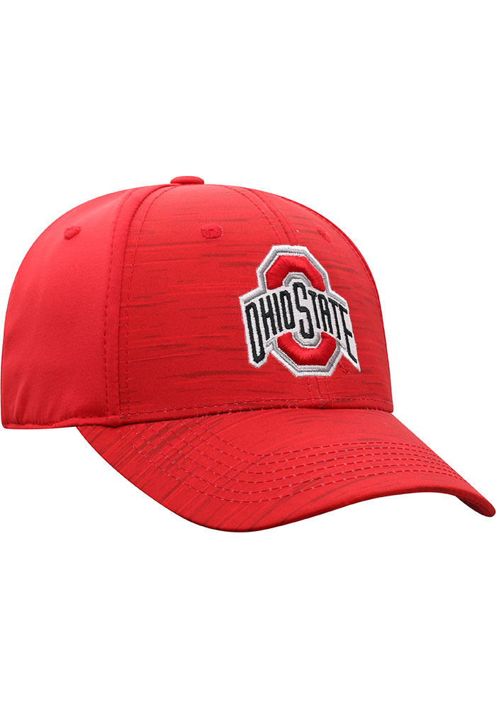 Top of the World Ohio State Buckeyes Mens Red Intrude 1Fit Flex Hat - Image 2