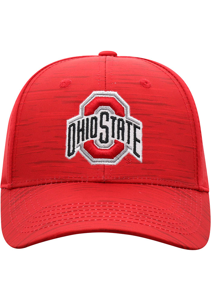 Top of the World Ohio State Buckeyes Mens Red Intrude 1Fit Flex Hat - Image 3