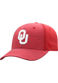 Oklahoma Sooners Top of the World Intrude 1Fit Flex Hat - Crimson
