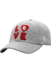 Oklahoma Sooners Womens Top of the World Loveit Adjustable - Grey