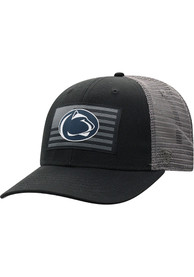 Penn State Nittany Lions Top of the World Back the Flag Meshback Adjustable Hat - Black