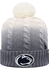 Penn State Nittany Lions Top of the World Dissolve Fade Cuff Pom Knit - Grey