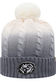 Temple Owls Top of the World Dissolve Fade Cuff Pom Knit - Grey