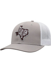 Texas A&M Aggies Top of the World Hi Rise Meshback Adjustable Hat - Grey