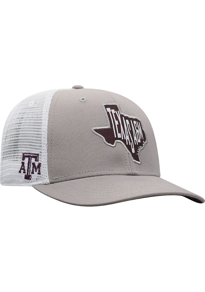 Top of the World Texas A&M Aggies Hi Rise Meshback Adjustable Hat - Grey - Image 2