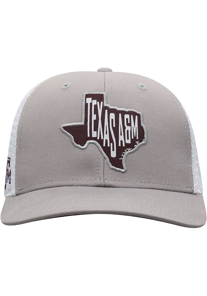 Top of the World Texas A&M Aggies Hi Rise Meshback Adjustable Hat - Grey - Image 3
