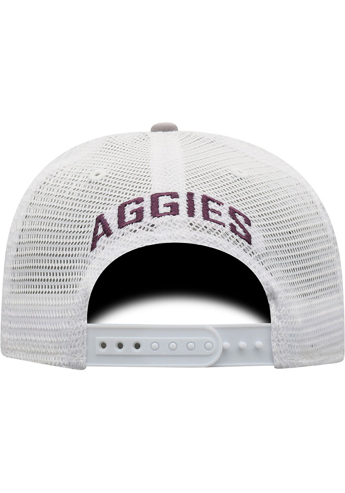 Top of the World Texas A&M Aggies Hi Rise Meshback Adjustable Hat - Grey - Image 4