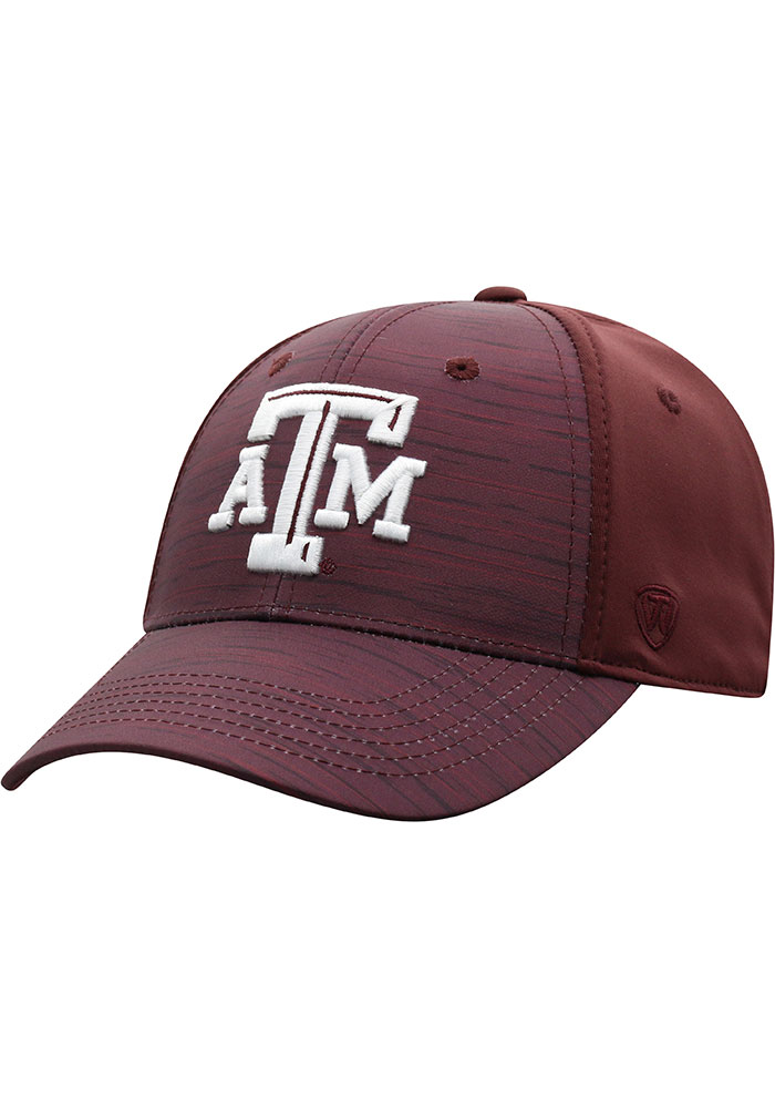 Top of the World Texas A&M Aggies Mens Maroon Intrude 1Fit Flex Hat - Image 1