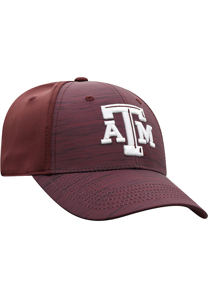Top of the World Texas A&M Aggies Mens Maroon Intrude 1Fit Flex Hat - Image 2