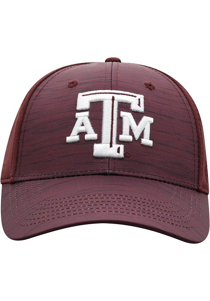 Top of the World Texas A&M Aggies Mens Maroon Intrude 1Fit Flex Hat - Image 3
