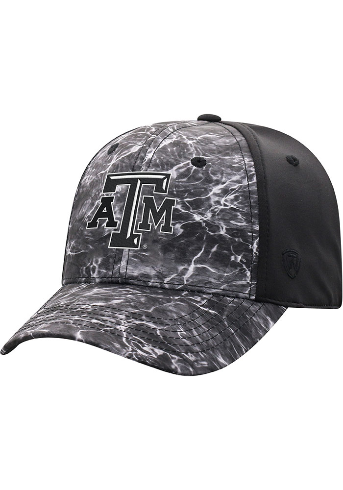 Texas A&M Aggies Top of the World Sea 1Fit Flex Hat - Black