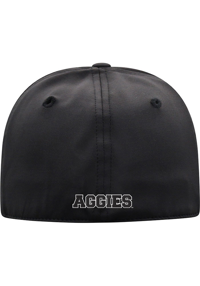 Top of the World Texas A&M Aggies Mens Black Sea 1Fit Flex Hat - Image 2