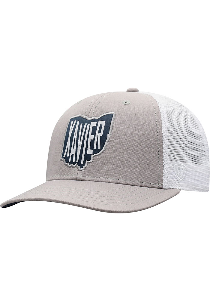 Top of the World Xavier Musketeers Hi Rise Meshback Adjustable Hat - Grey - Image 1