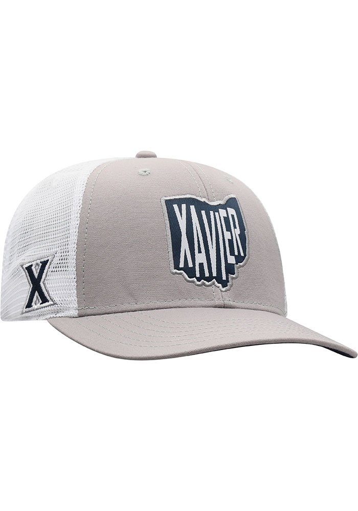 Top of the World Xavier Musketeers Hi Rise Meshback Adjustable Hat - Grey - Image 2