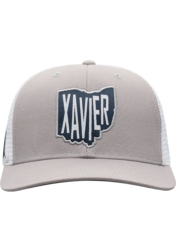 Top of the World Xavier Musketeers Hi Rise Meshback Adjustable Hat - Grey - Image 3