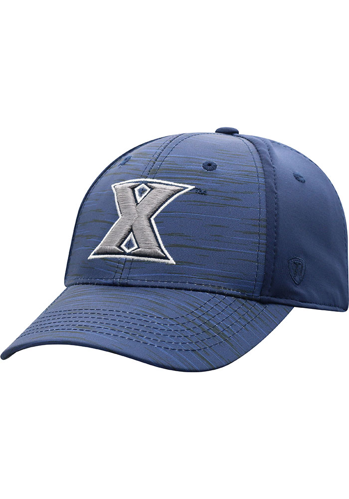 Top of the World Xavier Musketeers Mens Navy Blue Intrude 1Fit Flex Hat - Image 1