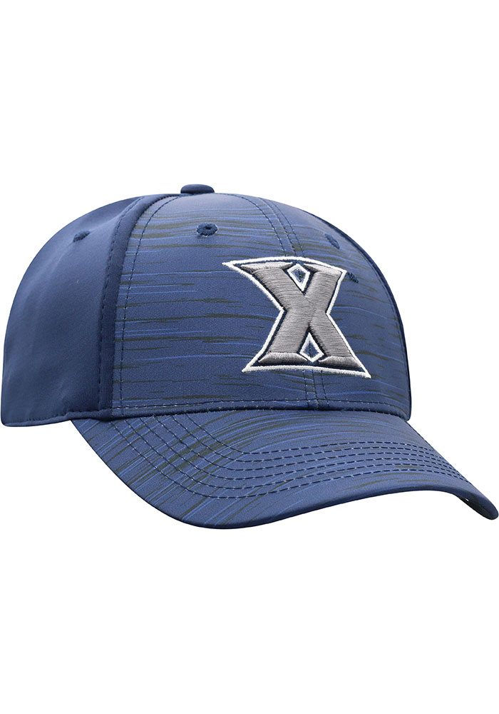 Top of the World Xavier Musketeers Mens Navy Blue Intrude 1Fit Flex Hat - Image 2