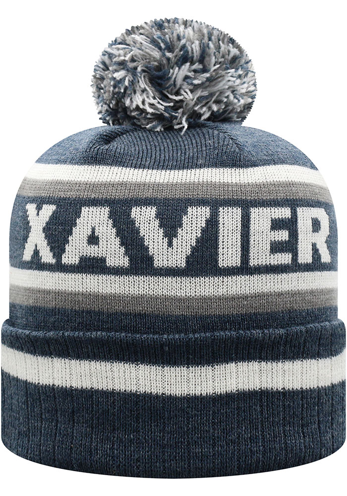 Top of the World Xavier Musketeers Navy Blue Buddy Cuff Mens Knit Hat - Image 2