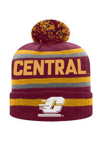Central Michigan Chippewas Top of the World Buddy Cuff Knit - Maroon