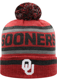 Oklahoma Sooners Youth Top of the World Buddy Cuff Knit Hat - Crimson