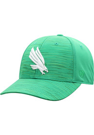 North Texas Mean Green Top of the World Intrude 1Fit Flex Hat - Green