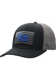 Pitt Panthers Top of the World Back the Flag Meshback Adjustable Hat - Black