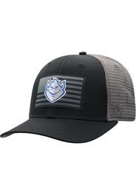 Saint Louis Billikens Top of the World Back the Flag Meshback Adjustable Hat - Black
