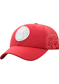 Temple Owls Youth Top of the World Ace Meshback Adjustable Hat - Maroon