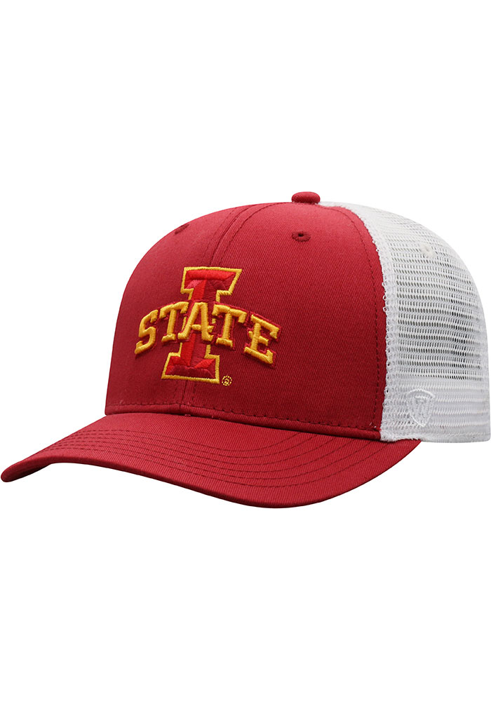 Top of the World Iowa State Cyclones BB Meshback Adjustable Hat - Cardinal - Image 1