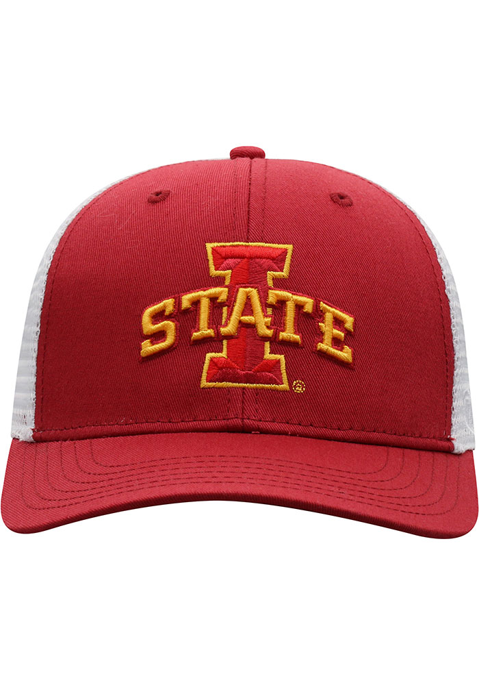 Top of the World Iowa State Cyclones BB Meshback Adjustable Hat - Cardinal - Image 3